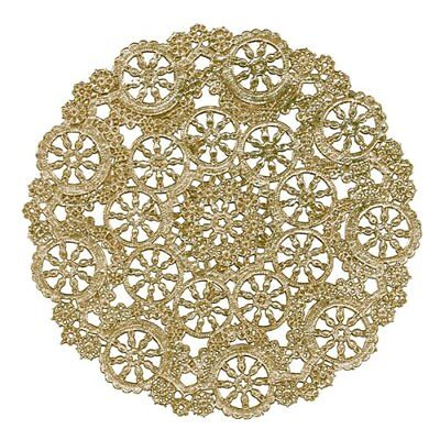 Royal Lace  Medallion Round Foil Doilies, Gold, 6-Inch, Pack of 18 (B26509)