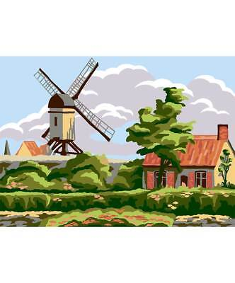 Collection D'Art Printed Tapestry Canvas - Windmil Cottage