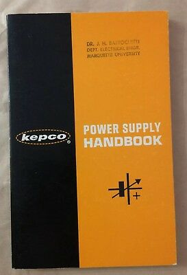 Kepco Power Supply Handbook 1965 SC VG vintage book
