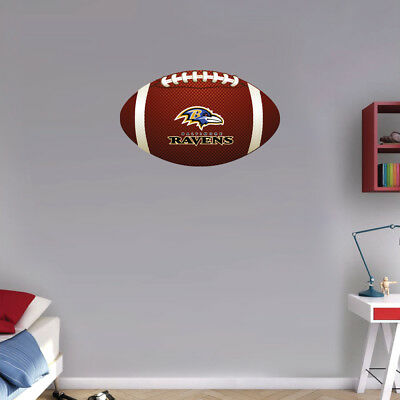 Baltimore Ravens Old NFL Logo Ball Art Wall Decor Sticker  - 12'' or 25''