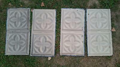 Vintage ceiling Tins (4) 24x12in