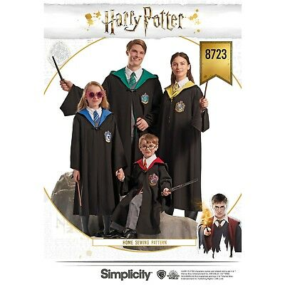 S8723 Simplicity 8723 SEWING PATTERN Harry Potter Costume Child Teen Adult Capes