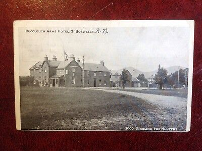 1911 B&W PC Buccleuch Arms Hotel, St Boswells - Good Stabling For Hunters