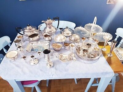 A Job Lot Of 30 Vintage Silver Plated Items.9 Kgs In Weight.