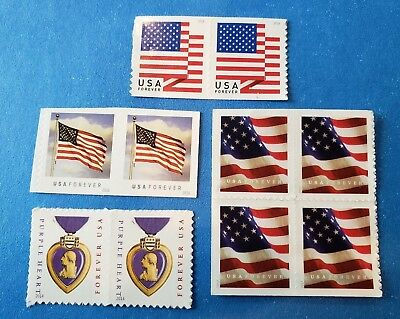 (10) USPS Forever Stamps -  Designs vary- Postage For First Class Mail MNH