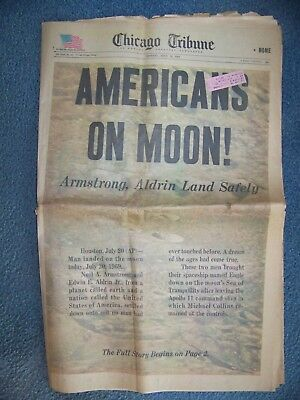 Americans  On  Moon  -  Chicago  Tribune  July 21, 1969