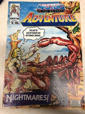 Masters Of The Universe Adventure Magazine Issue No. 16 Vintage 1989