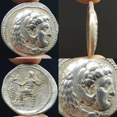 Alexander The Great King Old Wonderful Silver Coin    #5A