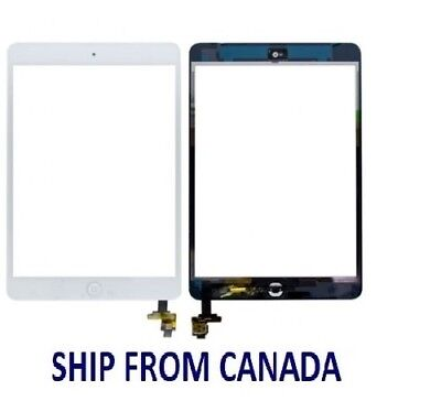 New WHITE  iPad Mini 1 & 2 Glass Digitizer Touch Screen IC Chip Flex Assembly