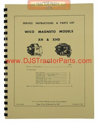 Magneto Service Manual (Instructions & Parts List) - WICO6