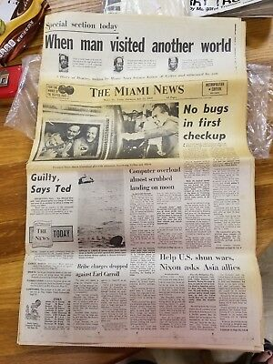 The Miami News July 25, 1969 The Moon Landing