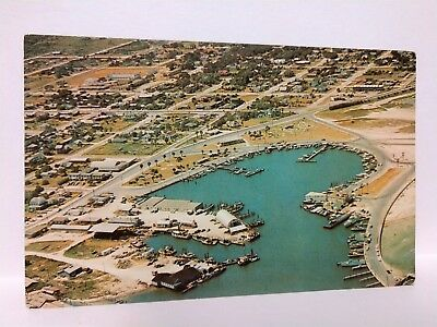Rockport, Texas Aerial View Boat Basin Postcard RPPC postcard