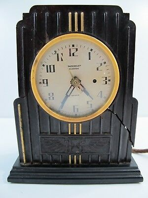 Vintage 1930s Waterbury Electric Alarm Clock No. 114 Made in USA