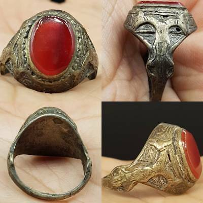 Stunning Medieval Old agate stone Old Beautiful Ring  # 5A