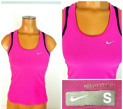 448ebf811d Womens Nike Dri Fit Tank Top Hot Pink Athletic Workout Top w  Bra Size Small