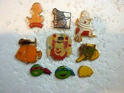 Lot 9 pin's : Fantaisie