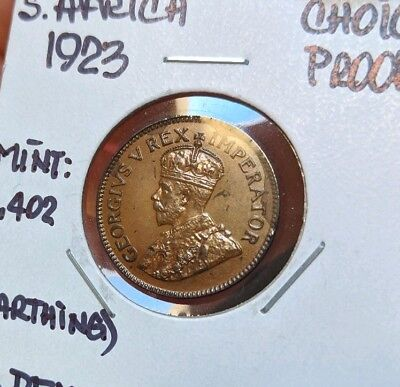 1923 Proof South Africa Farthing RARE 1402 Minted Free Shipping