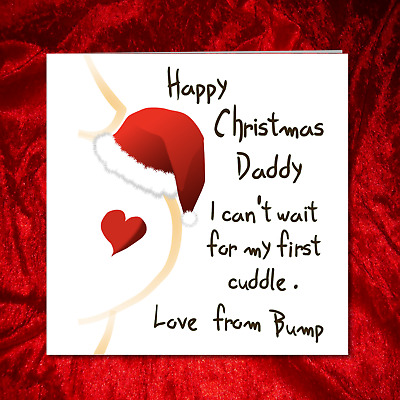 Christmas Card from Baby Bump to Daddy / New Dad / Husband - New Baby Pregnant -