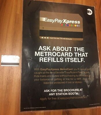 NYC MTA Poster Sign Easy Pay Express Metrocard Netflix Defenders No Value Empty