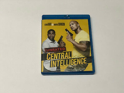 ** Central Intelligence (Blu-ray Disc, 2016, Unrated) ~ No Digital
