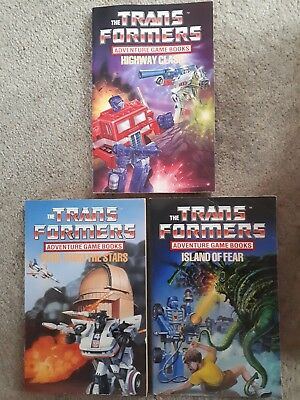Transformers G1 Choose Your Own Adventure Game Books x3 - good condition - RARE