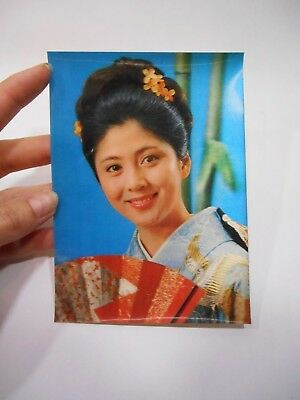 Vintage Japanese Geisha Winking Girl Winky 3d Color Postcard