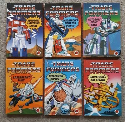 Transformers G1 Ladybird Books x 6 Joblot- VGC features Optimus Prime & Megatron
