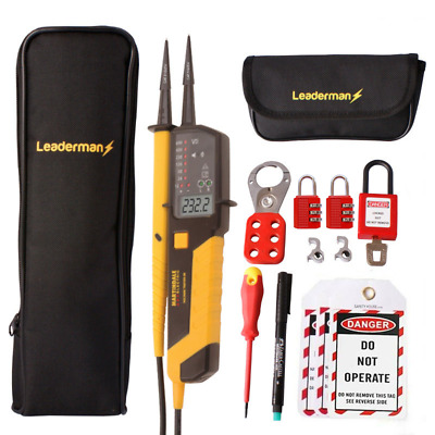 Martindale VT28 Voltage & Continuity Tester KIT24,MCB Lock Out Kit LOS-K1,