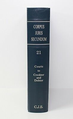 Corpus Juris Secundum 1990 Law Book Volume 21 / Courts to Creditor and Debtor