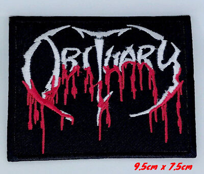 OBITUARY Blood Drip Logo Death Metal Iron or Sew On Badge Patch UK Seller