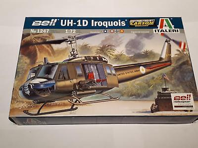 Italeri 1247 Bell UH-1D Iroquis US Army Attack Helicopter Vietnam War 1:72