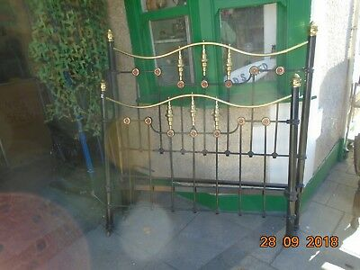 antique brass and cast iron bed