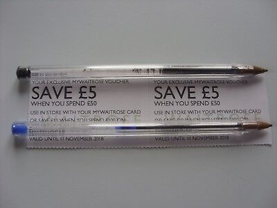 2 X Waitrose Money Off Coupons Vouchers £5 off a £50 Spend