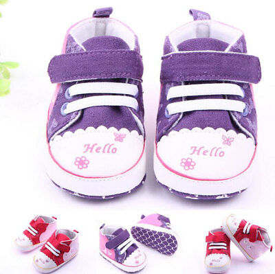 2016 Baby Infants Girls Canvas Small Butterfly Outdoor Todddler Shoes