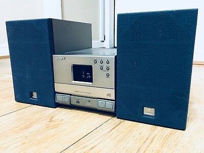 Sony HCD-T1 Tuner/CD Player  midi hifi compact stereo  active speakers