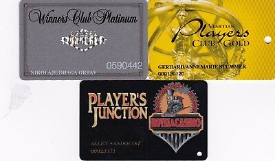 3Different OldCasino Slot Cards eachRated Scarce Tropicana, Venetian, Players