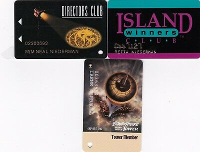 3Different OldCasino Slot Cards eachRated Scarce MGM, Tropicana, Stratosphere