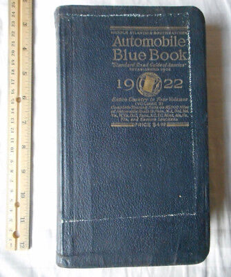 1922 Automobile Blue Book Vol. 2 Mid-Atlantic & Southeast Vintage Touring Guide