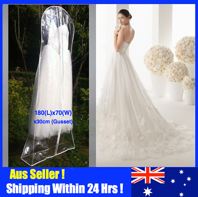 Clear Extra Large Wedding Dress Bridal Gown Formal Garment Cover Storage Bag