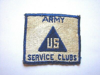 US Army Service Clubs Patch