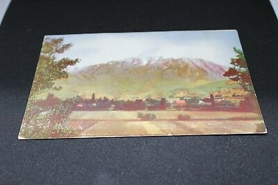 Mount Timpanogos, Utah Valley, Provo - RPPC - written but not posted, 1940's?