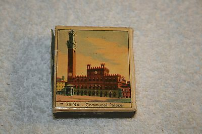 Vintage MATCHBOX from Italy * PISA - Baptistery * Siena Communal Palace
