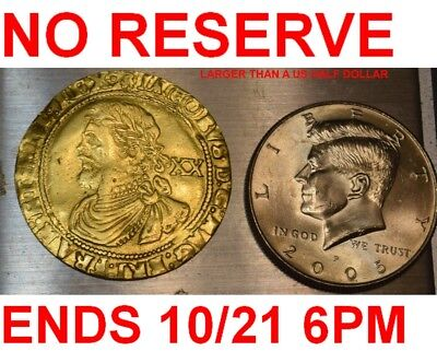GREAT BRITAIN UK-1621 JAMES I 20 SHILLINGS XF-LARGE GOLD COIN-ENDS 10/21 9pm EST