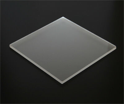 """1/8"""" (3mm) Matte Acrylic Sheet Frosted Clear  Plexiglass 12""""x12"""" P95 AZM On Sale"""