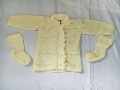 Newborn Vintage Yellow Sweater With Bootties