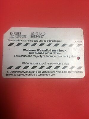 NYC Metrocard Empty For Collection Plastic Metro MTA Transit Card