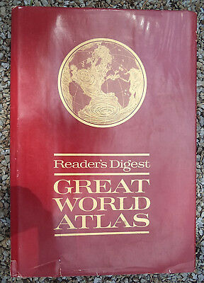Reader's Digest Great World Atlas First Edition © 1963 Hard Cover