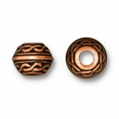 6x2mm * Large Hole 20  Copper Plated Seamless Rondelle Beads