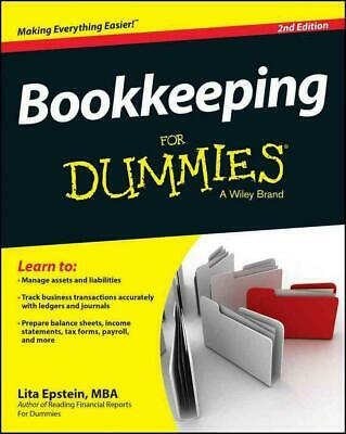 Bookkeeping for Dummies by Lita Epstein (English) Paperback Book Free Shipping!