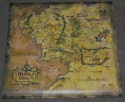 "Official Lord of the Rings Map of Middle Earth Poster - 19.5"" X 19.5"""